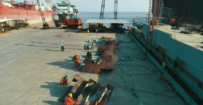 Modernized ship recycling facility - Leela yard.png