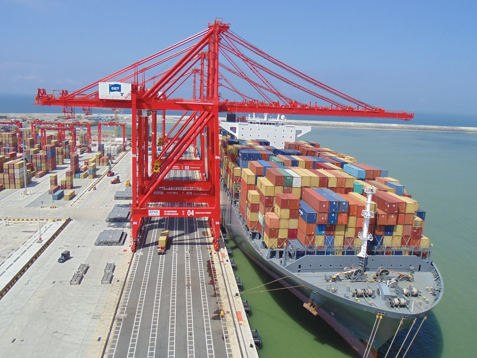 Colombo International Container Terminal CICT quayside1